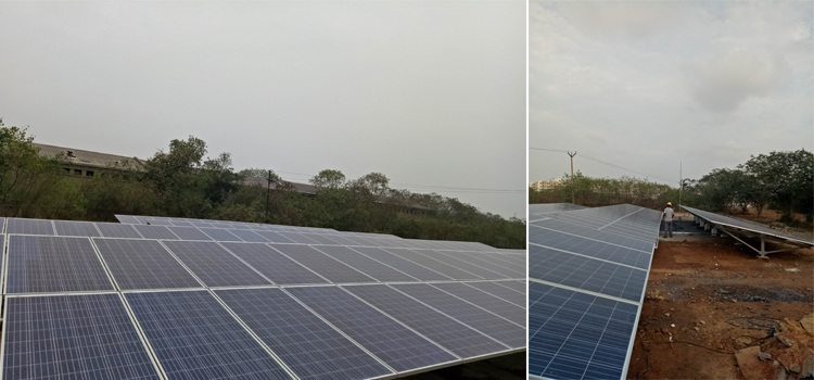 100kW Ground Mounting On Grid Solar Power Plant In Chemical Plant Near Chennai
