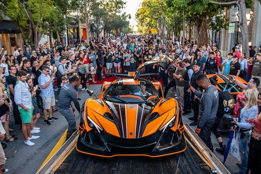 Apollo IE Orange Dragon received the Best in Class at Miami Concours