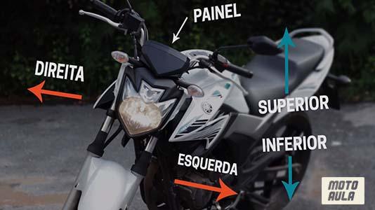 Controles básicos da moto