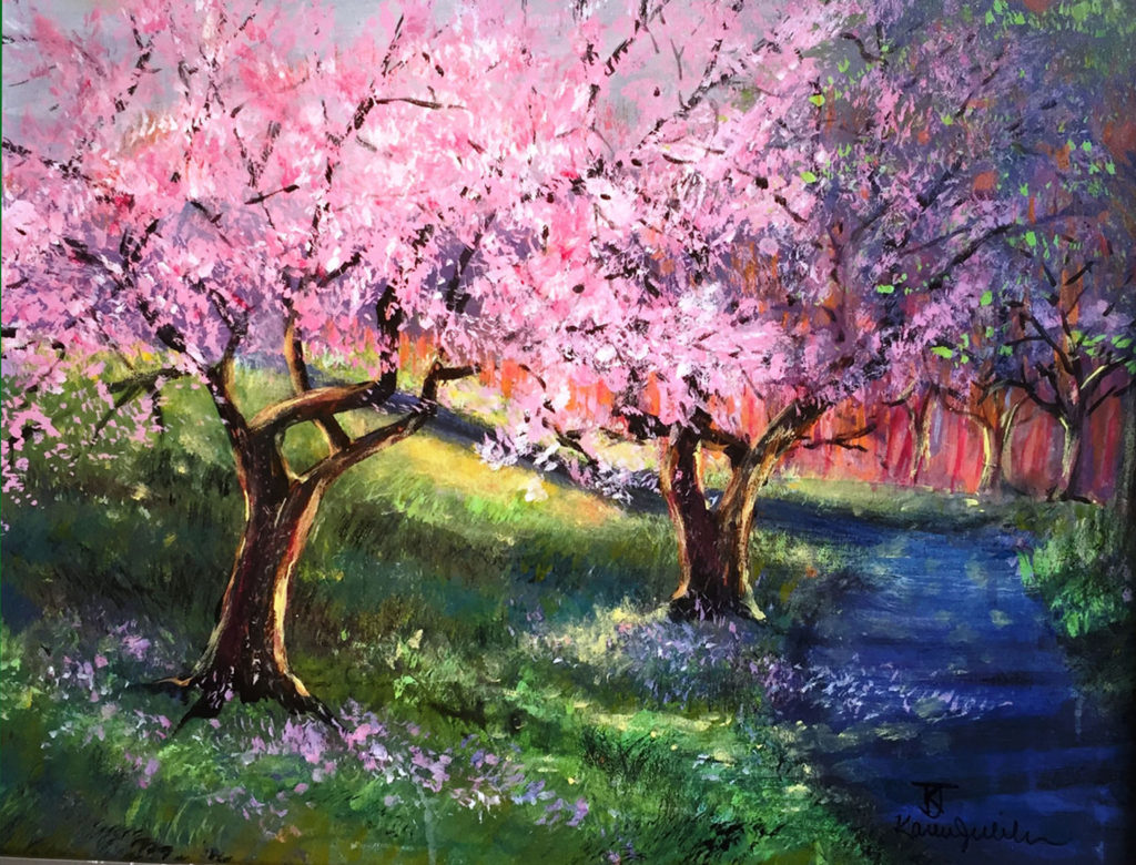 Cherry Blossoms by Karen Julihn (Jan-June 2017, CBTC)