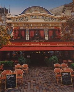 Cafe Levant, Bordeaux, Metallic Photograph, Ltd.Ed. by Deborah D. Herndon, Size 20in x 16in, Framed 30in x 24in x 1.5in, Price $189 (September 2017)