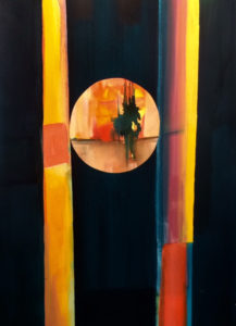 In the Balance, Acrylic by Barbara Taylor Hall, Size 29in x 21in, Prince $700 (September 2017)