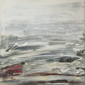 Mist Rising, Acrylic on Canvas by Elizabeth Shumate, Size 21in x 21in, Price $275 (September 2017)