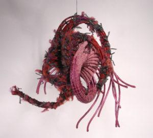 Species. Mixed Fiber by Passle Helminski, Size 18in x 19in x 19in, $500 (September 2017)