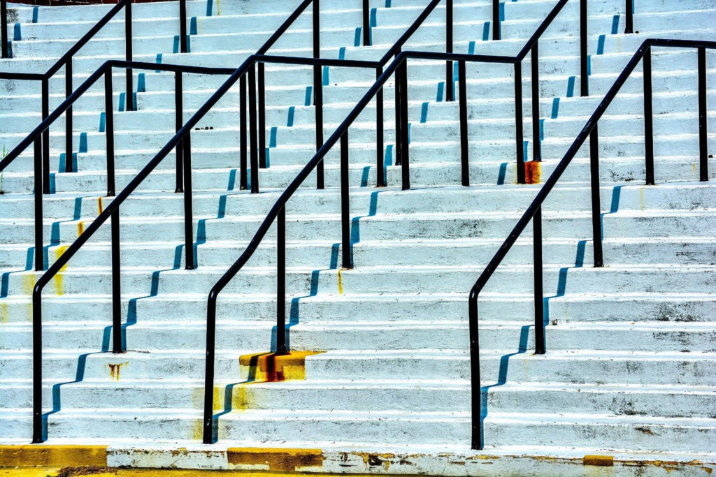 HONORABLE MENTION: Stairs and Rails, Digital Photograph, Ltd. Ed. by Addison Likins, Size 16in x 24in, Price $395 (September 2017)