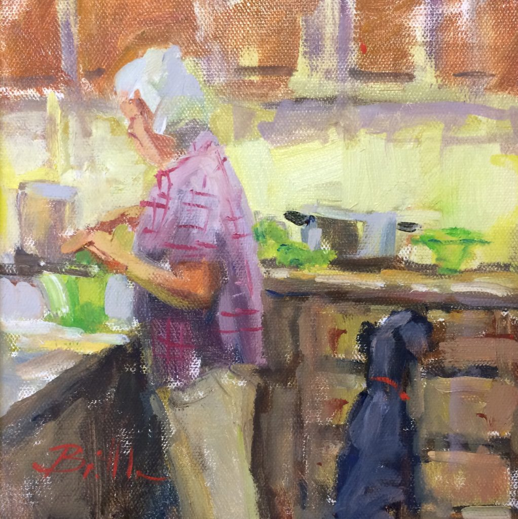 Watching the Pot, work by Nancy Brittle (MG: March 2018)