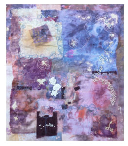 Flutter, Fiber Mixed Media by Maura Harrison, 16in x 14in, $250 (April 2018)