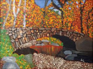 Stone Bridge, Oil Pastel by James Clark, 18in x 24in, $275 (April 2018)