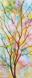 Tree of Wisdom, Ink & Watercolor by Van Anderson, 24in x 10in, $100 (April 2018)
