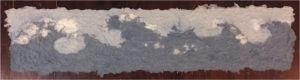 Waves, Pulp Painting by Jennifer Galvin, 8in x 30in, $125 (April 2018)
