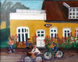 Way of Life, Skagen, Denmark, Acrylic by Diane B. Russell, 16in x 20in, $200 (April 2018)