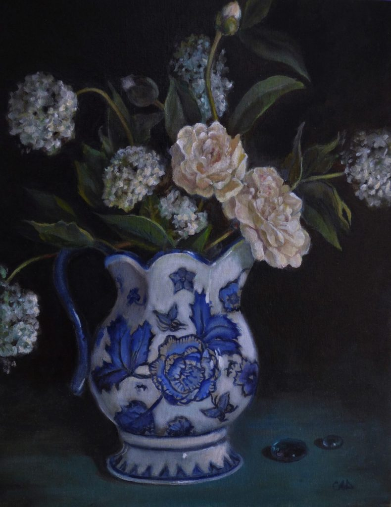 Still Life with Scottish Pitcher, work by Christine Dixon (MG: June 2018)