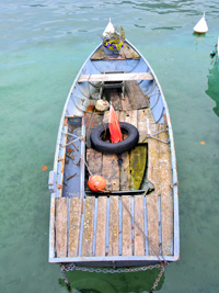 Old Boat Annecy, a metallic photograph by Deborah Herndon (MG: March 2013)