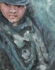 Homeless Woman, a painting by Tom Smagala (MG: May 2013)