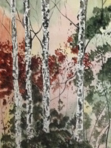 Compliment of Trees Study by Kathleen Mullins (CBTC: October 2018)