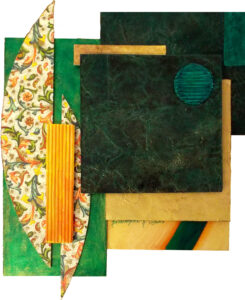 Emerald, Mixed Media by Katharine K. Owens, 11in x 9in, $125 (September 2019)