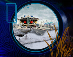 Port Fantasy, Photo Montage by R. Taylor Cullar, 11in x 14in, $60 (September 2019)