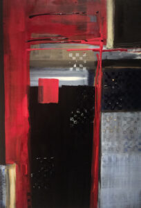 The Red and the Black, Acrylic by Barbara Taylor Hall, 31in x 21in, $600 (September 2019)