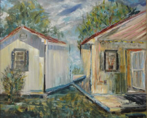The Summer Studio at Nimrod Hal, Oil on Canvas by Maria K. Motz, 16in x 20in, $750 (September 2019)
