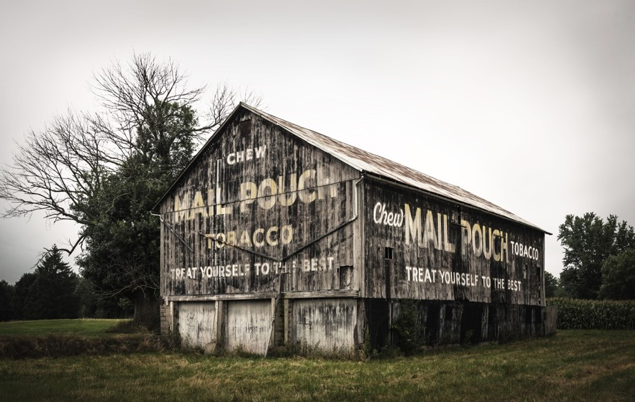 Mail Pouch Barn, photograph by Rebecca Carpenter (MG: November 2019)