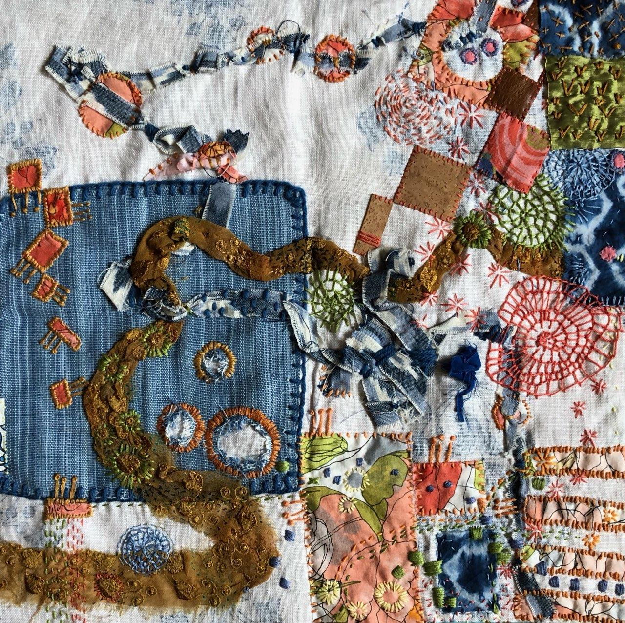 Collaborative work by Kay Portmess and Maura Harrison (MG: July 2020)