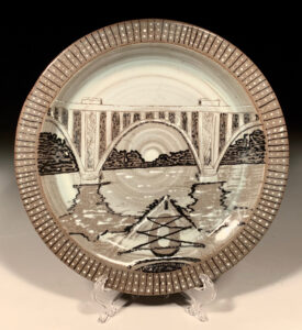 A Frosty Morning Paddle, Ceramic by Lauren Braney (Feb-May 2020 CBTC)
