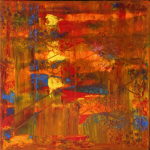 Playing with Color No. 1, Painting and Mixed Media by Joan Powell, 12in x 12in, $75 (Feb-May 2020 CBTC)