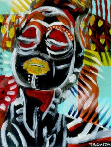 Allure, Acrylic & Gouache on Paper by Tronja Anglero, $250 (Aug. 2020-Jan. 2021 CBTC)