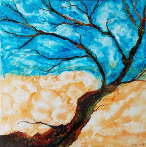Breezy Fall Tree, Alcohol Ink by Van Anderson, $260 (Aug. 2020-Jan. 2021 CBTC)