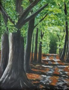 Morning Walk, Acrylic by Jane Cariker, $275 (Aug. 2020-Jan. 2021 CBTC)