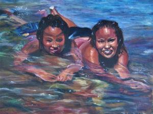 Sisters, Oil by Barbara Byrd, $700 (Aug. 2020-Jan. 2021 CBTC)
