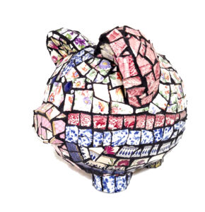 Violet, Mosaic by Joan Powell, $200 (Aug. 2020-Jan. 2021 CBTC)