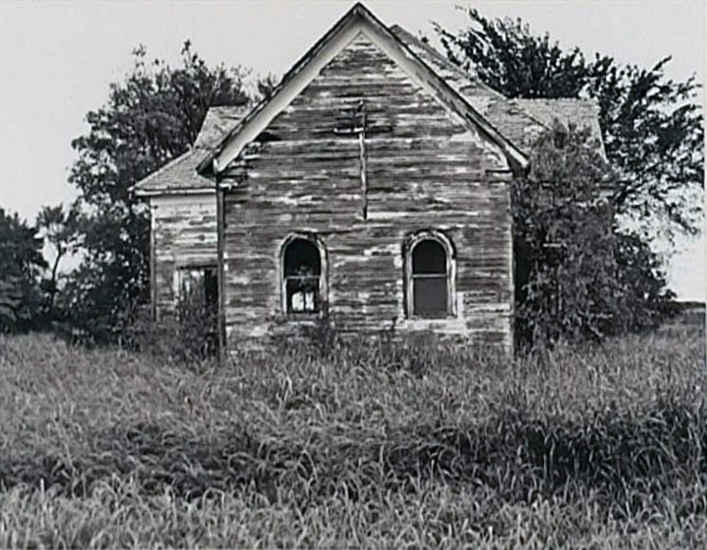 HONORABLE MENTION: Abandoned Prairie Church, Photograph by Lee Cochrane, 11in x 14in, $150 (November 2020)