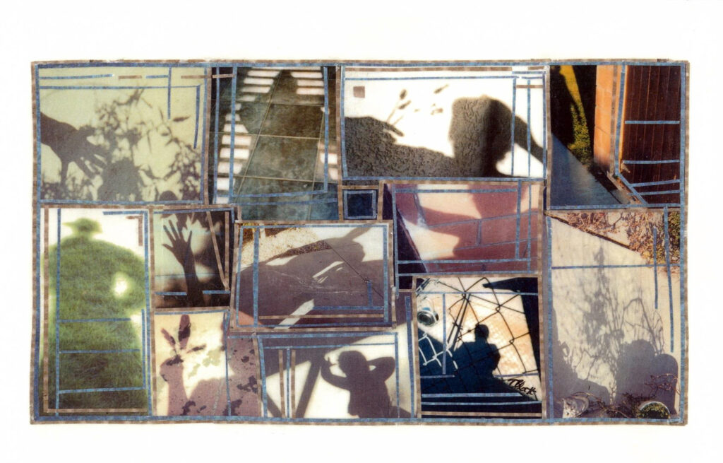 FIRST PLACE: My Days Are Like a Shadow, Self-portrait Photo Collage by Teresa Blatt, 8in x 12.5in, $240 (February 2021)