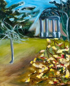 Fall Frisson, Oil on Board-plein air by Katie Green, 11in x 9in, NFS (March 2021)