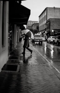 Black and White in Savannah, Digital Photograph by Krista Catron, 17in x 11in, $179 (April 2021)