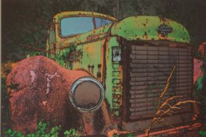 International Rust Bucket, Digitally Manipulated Photograph by Lee Cochrane, 12in x 18in, NFS (April 2021)