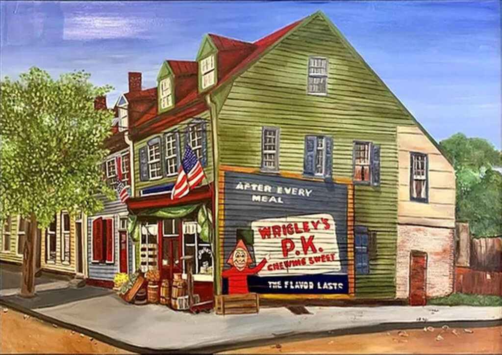 HONORABLE MENTION: John Paul Jones House, Oil by Danette Taylor, 24in x 34in, $500 (April 2021)
