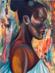 No Looking Back, Acrylic on Canvas by Tronja Anglero, 24in x 18in, $600 (April 2021)