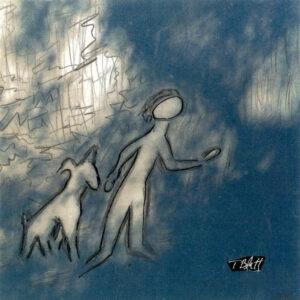 Play, Inked Photograph Pareidolia by Teresa Blatt, 5in x 5in, $130 (April 2021)
