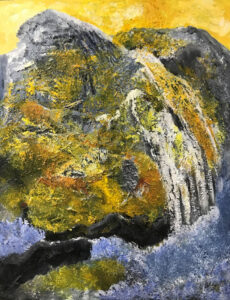 Refuge, Mixed Media by Beverly Bley, 30in x 23in, $450 (April 2021)