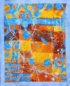 The Beautiful 'Not Yet' , Fiber Art by Maura Harrison, 16.5in x 13.5in, $100 (April 2021)