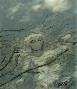 Wind, Inked Photograph Pareidolia by Teresa Blatt, 7.5in x 6.5in, $110 (April 2021)