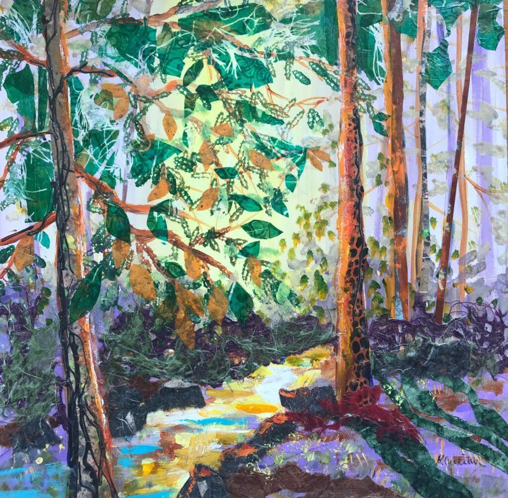 Forest Light, work by Karen Julihn, 18x18, $350 (MG: May 2021)