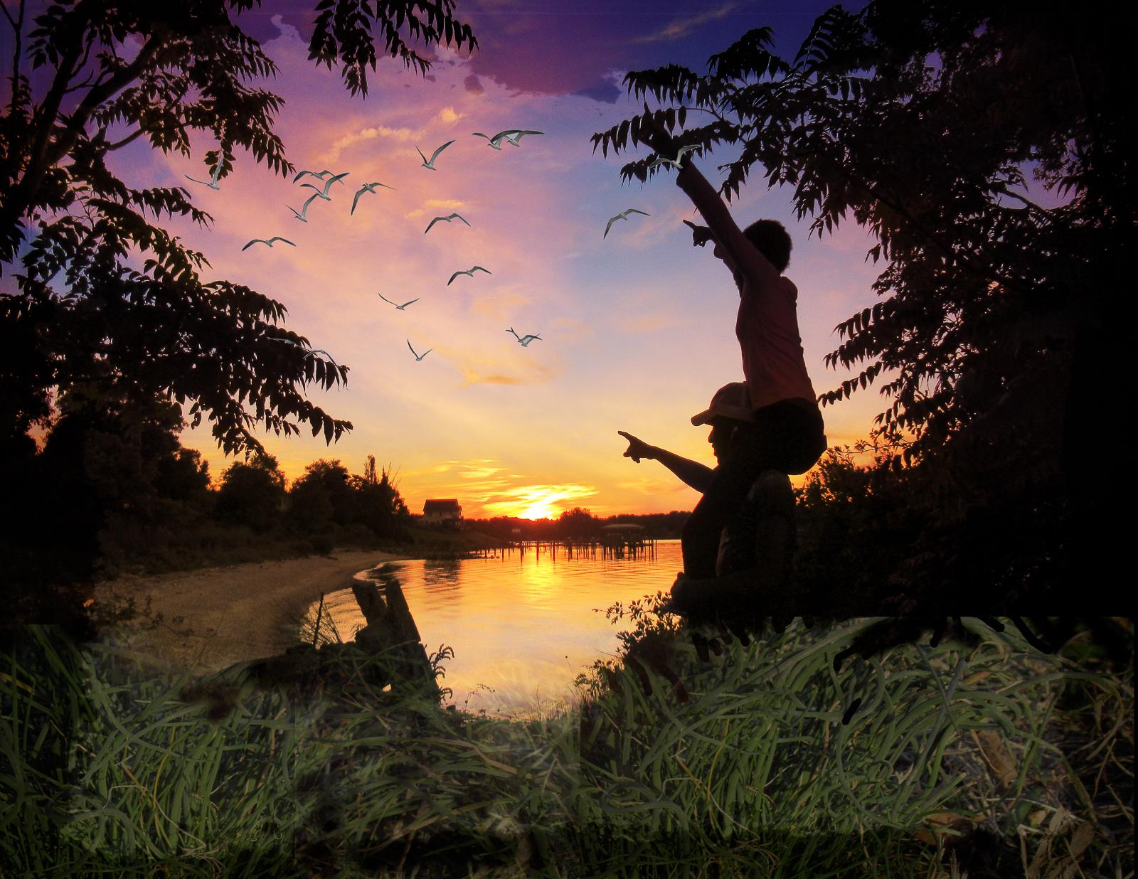 Potomac Sunset, work by R. Taylor Cullar (MG: June 2021)