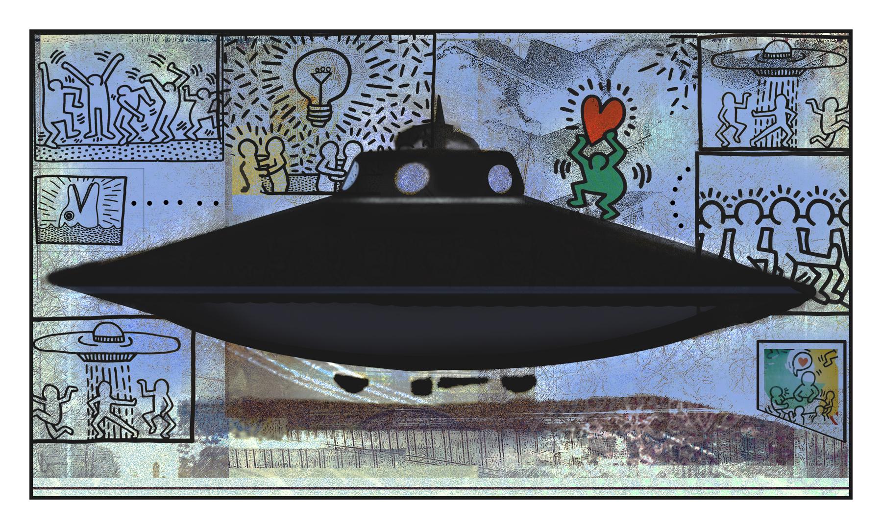 Ketth Harding's Saucer, work by Robert Hunter (MG: June 2021)