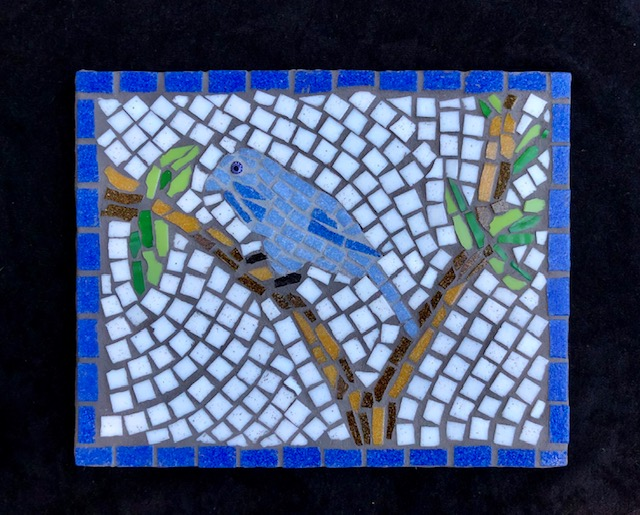 Perching Blue Bird, work by Cathy Ambrose Smith (MG: July 2021)