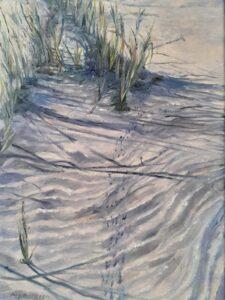 Beach Rhythms, Oil by Michele Costello, 12in x 9in, $325 (September 2021)