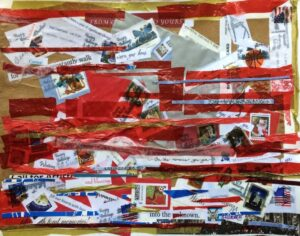 Celebration, Mixed Media & Collage by Elizabeth Shumate, 11in x 14in, $295 (September 2021)