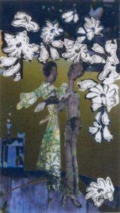 Dance in the Open Air, Mixed Media Collage by Teresa Blatt, 11in x 6.25in, $220 (September 2021)